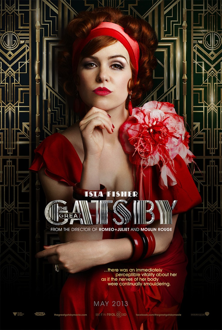 """Why did we ever given up looking this amazing, ladies?     """"...there was an immediately perceptible vitality about her as if the nerves of her body were continually smouldering..."""" #IslaFisher #MyrtleWilson #TheGreatGatsby"""