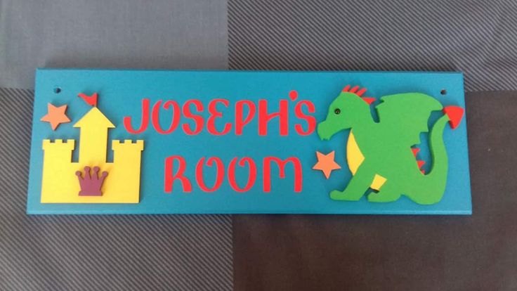 Dragon and Knights Castle Personalised Door Name Sign Name Plaque. Any Name/Names, Any colours. Bedroom Sign Boys room Decor Dragons Sign by FairylandDecor on Etsy