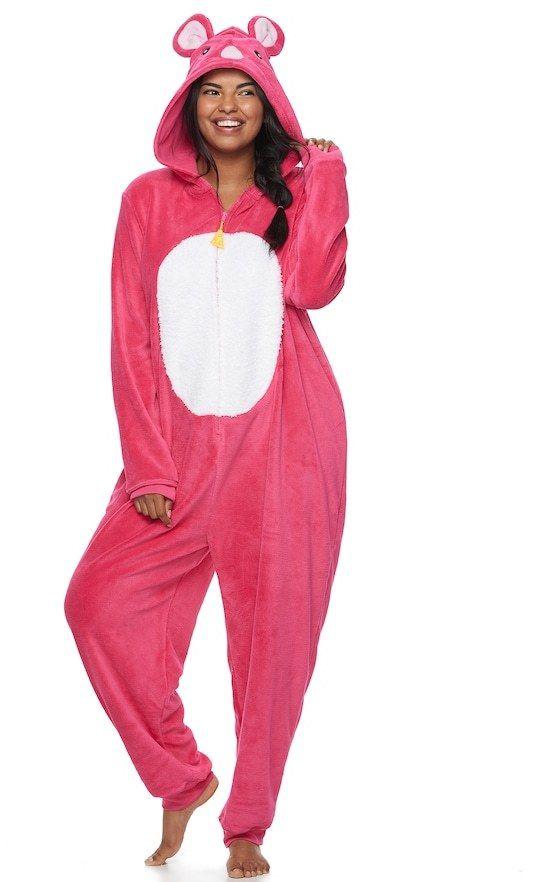 SO Juniors' Plus Size SO® Mouse Costume One-Piece Pajamas