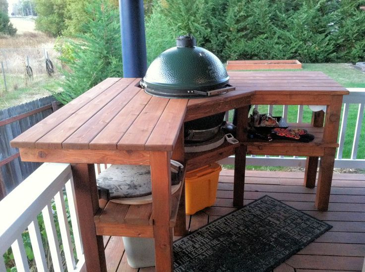 Big Green Egg Corner Table Plans - WoodWorking Projects & Plans