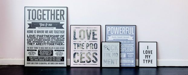 Trending: Graphic posters from I Love My Type. Post by DesignClaud