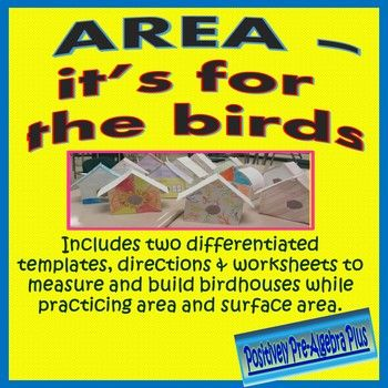 Great activity to reinforce or review area formulas and surface area.  The activity has two levels of birdhouse templates to make it easy for you to differentiate.  This 2-3 class period activity is also great for projects at the beginning of the year, end of year, or around holidays.
