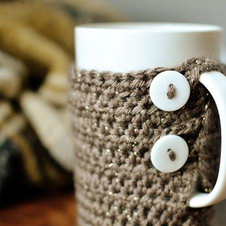 Simple Crochet Tall Coffee Mug Cozy