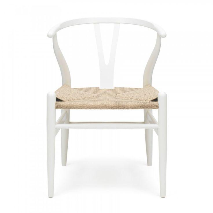 Danish Designs Wishbone Chair White Natural