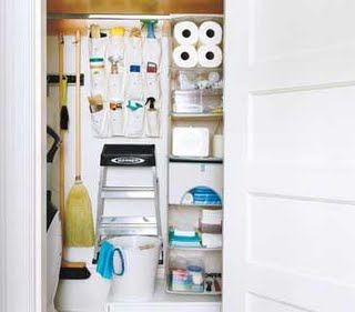 Captivating Utility Closet For Cleaning Supplies Storage.