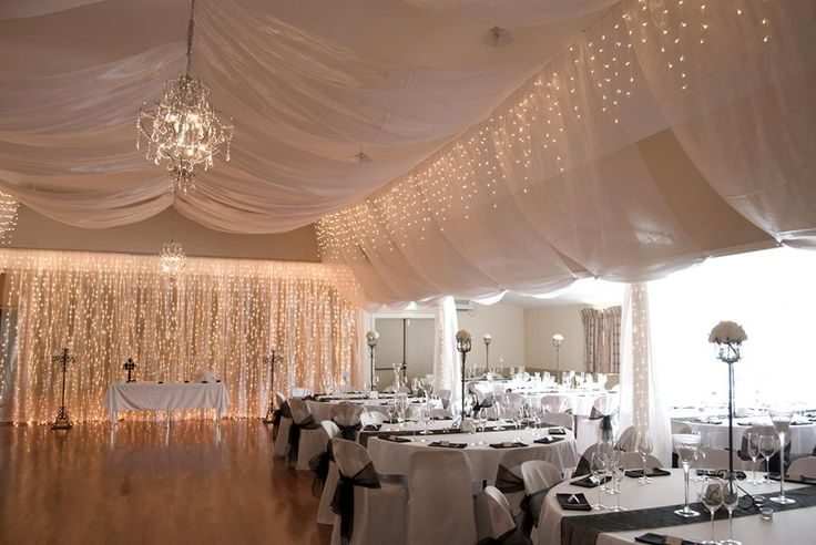 Brighten up your venue with some fairy lights! #DIY #fairylights #event #party