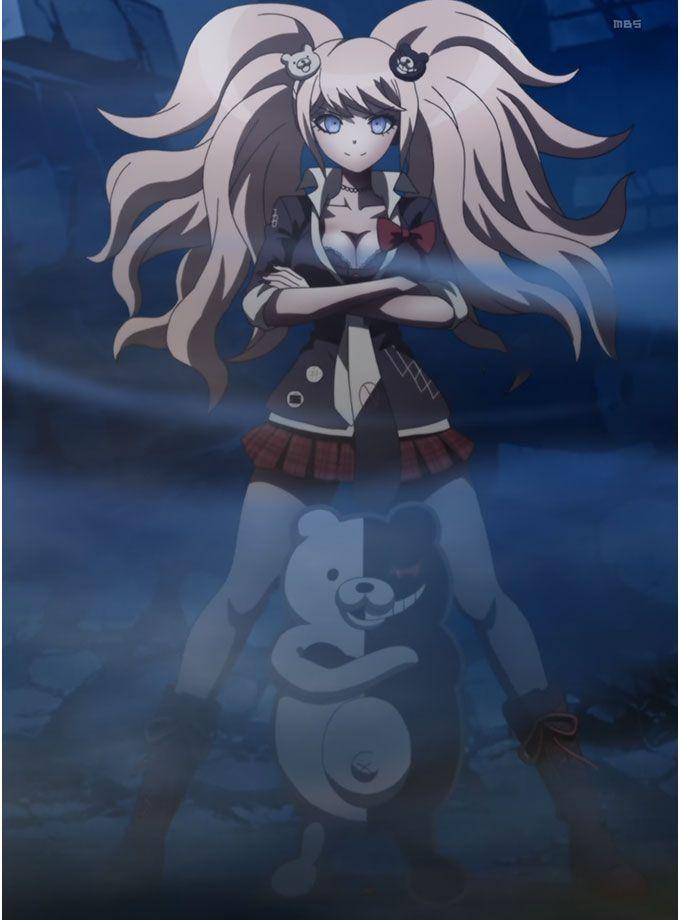 Danganronpa-Monokuma and Enoshima Junko by Rosyane.deviantart.com on @deviantART