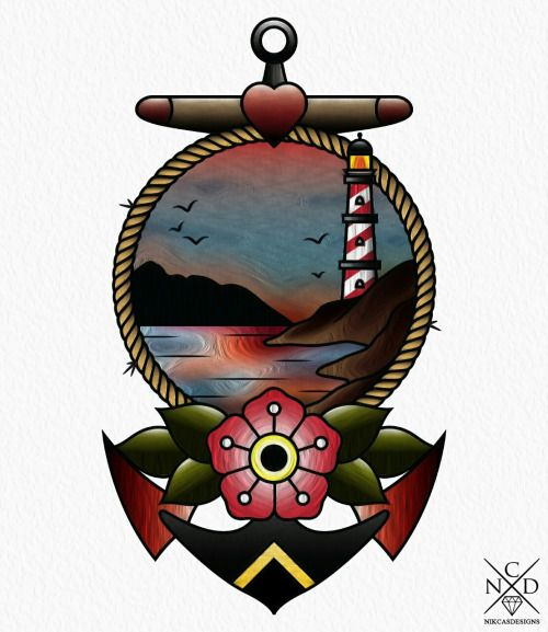 Anchor ~ New Traditional tattoo