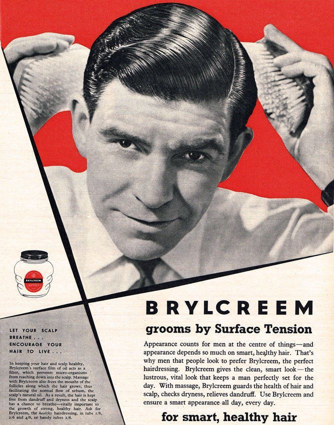 Brylcreem Hair Tonic Vintage Classic Magazine Advert Barber 11X14 Poster
