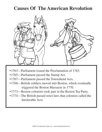 Causes of the American Revolution, Lesson Plans - The Mailbox