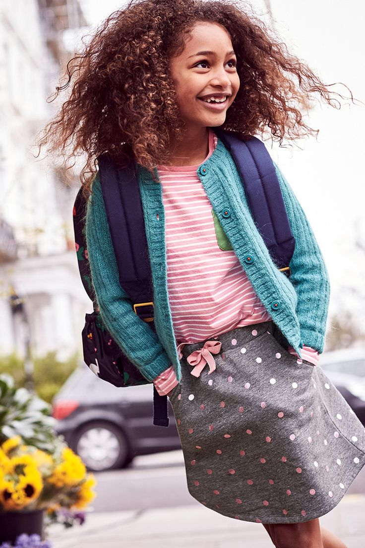 Shh, don't tell – these playful, twirly skirts have a secret: the cosy jersey fabric is as practical as the polka dots are fun. Even the sparkly details are machine washable (thank goodness).