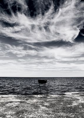Watch the blue ocean. Available as poster at printler.com, the marketplace for photo art. Photographer Caroline Salde.