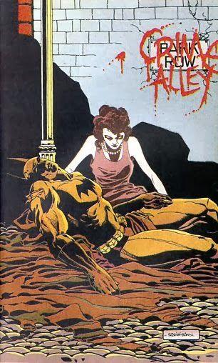 Batman in The Logn Halloween by Jeph Loeb  and Tim Sale http://pharaunmizzrym.blogspot.com/2013/10/batman-the-long-halloween-top-komiks-inspiracje-sztuka-klasyczna-i-literatura-w-komiksach.html