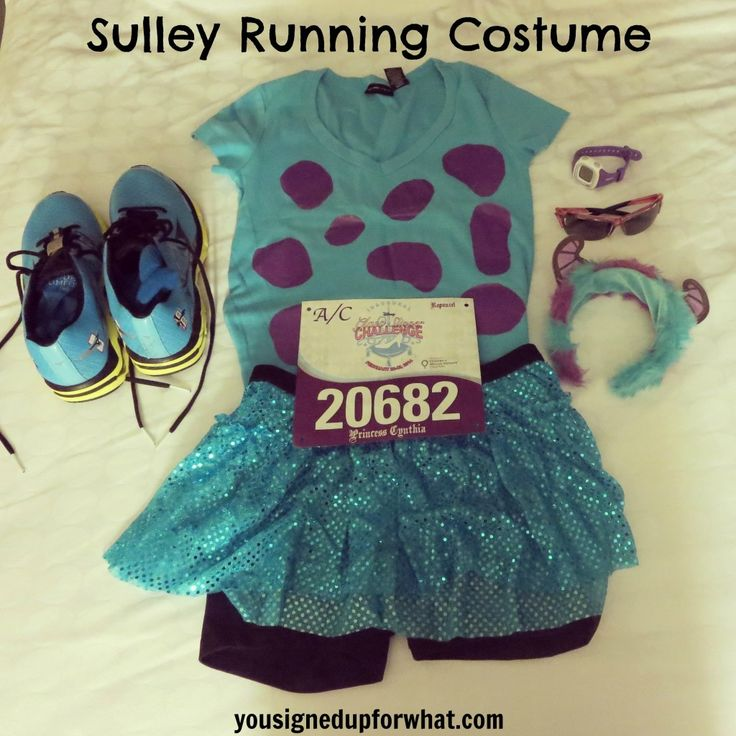 Sulley running costume. runDisney costume.   @Torie Steenland ONE DAY WE SHOULD RUN A RACE TOGETHER AND WE SHOULD TOTALLY DRESS UP LIKE THIS. I'LL BE MIKE AND YOU'LL BE SULLEY. OK? OK.