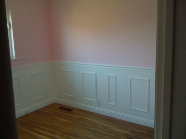 Wainscoting in baby girls room... in the plans for the little bambina!