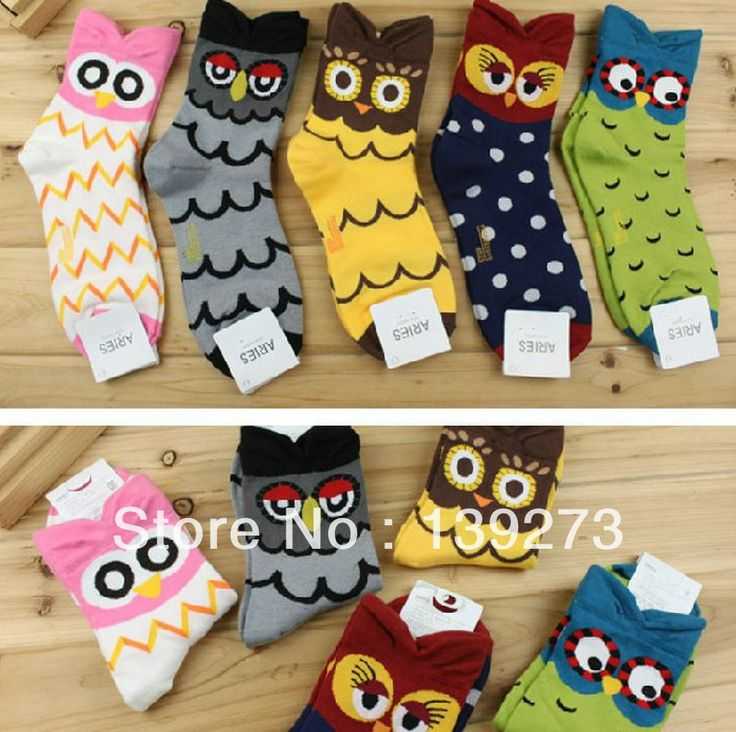 New  Autumn Summer South Korean women's Fashion Cute cartoon Candy color Owls Cotton Socks meias soks