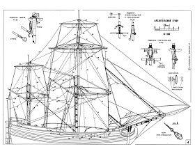 Original model ship plans