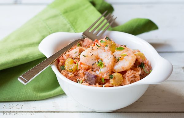 Slow Cooker Jambalaya via @spicyperspectiv