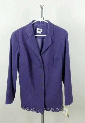 LESLIE FAY dresses WOMENS SIZE 14 purple BLAZER JACKET 3 % spandex nwt
