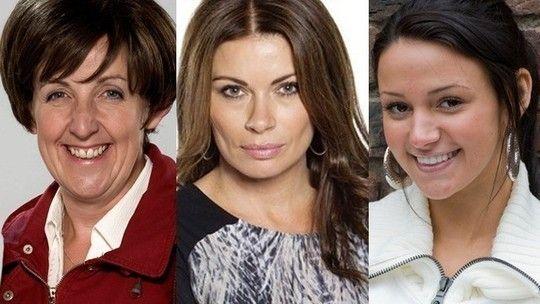 Julie Hesmondhalgh, Alison King and Michelle Keegan - Coronation Street