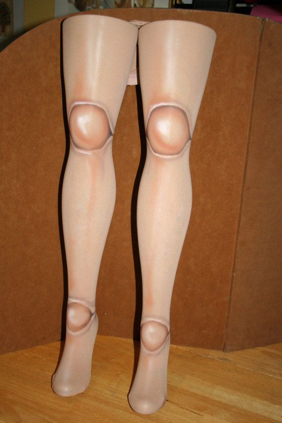 Ball Joint doll tights for my creepy doll Halloween costume, created by Sharon Bateman (via @etsy )