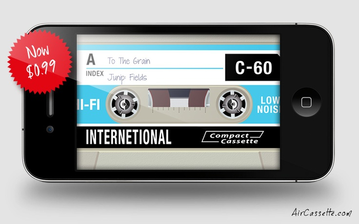 AirCassette, a great example of skeuomorphic UI design.
