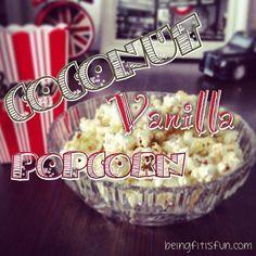 Hier kommt ein gesundes & leckeres Kokos Vanille Popcorn Rezept, das süchtig macht!
