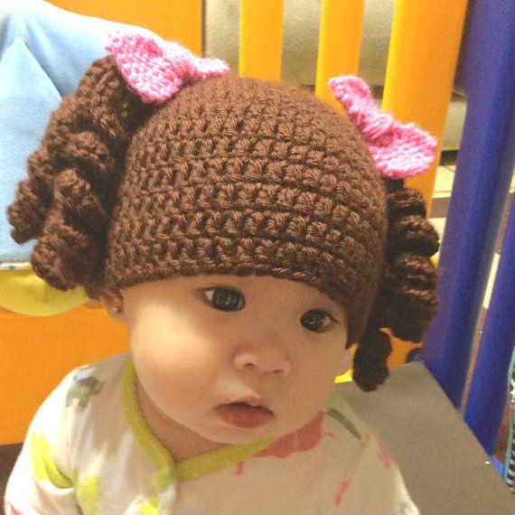 Crochet baby hat / Goldilocks crochet baby hat / girl door PinkyRoo