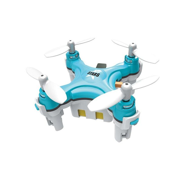 """Cheerson CX-Stars Nano Quad Drone (Blue) - The CX-Stars from Inguity® is without a doubt the smallest drone ever manufactured. It measures in at an astounding 3.5cm x 2.2cm (1.37"""" x 0.87"""") but includes all the electronics of the bigger models. It balances with gyroscopes and accelerometers, maintaining unbelievable stability despite its miniature size. Slip the CX-Stars Drone into the remote and slide both into your pocket, anywhere is a perfect spot to fly with this nano drone."""