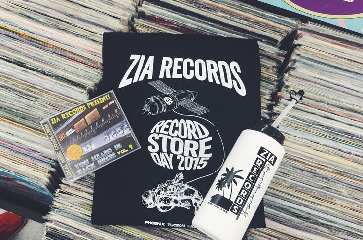 The Zia Records Record Store Day super pack! Our new local music CD, RSD shirt and neon-sign inspired water bottle, all for only $5!