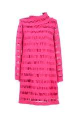 Rubinowa tuniko-sukienka oversize