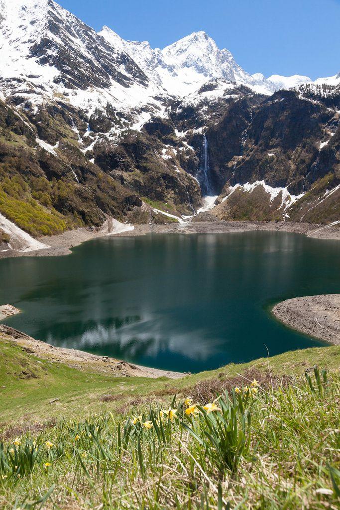 lac d'Oo, Haute -Garonne, Pyrénées, Bagnères-de-Luchon, Midi-Pyrenees_ France