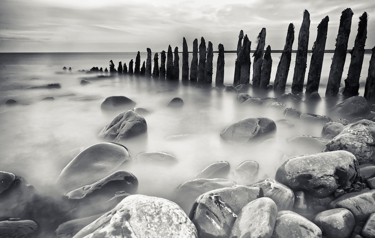long exposure of Porlock Weir