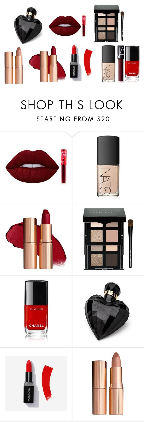 """Makeup (theres 1 perfume)"" by nurzarmina on Polyvore featuring Lime Crime, NARS Cosmetics, Bobbi Brown Cosmetics, Lipsy and Charlotte Tilbury"
