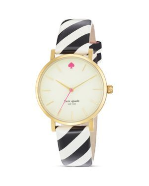 kate spade new york Stripe Metro Strap Watch