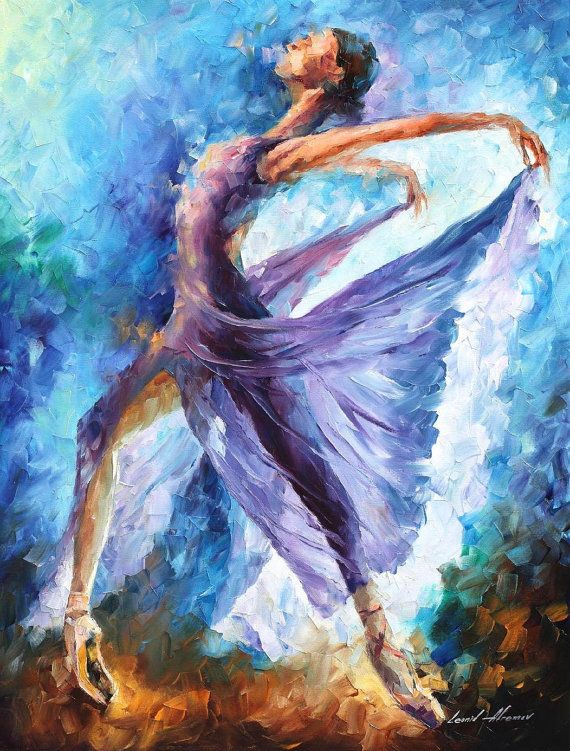 """Dance Of Angels — PALETTE KNIFE Oil Painting On Canvas By Leonid Afremov - Size: 30"""" x 40"""" (75cm x 100cm)"""