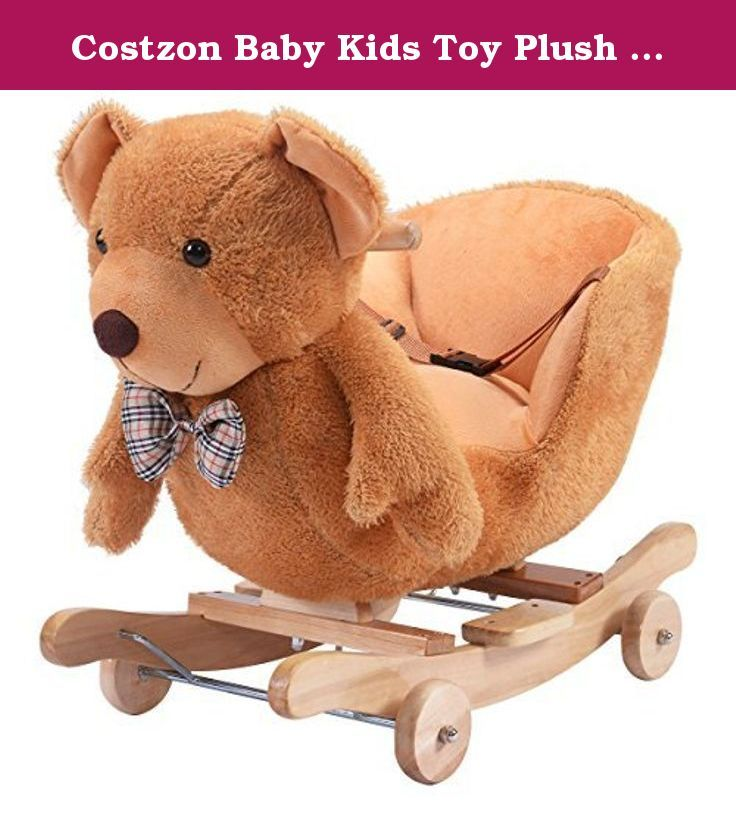 Costzon Baby Kids Toy Plush Rocking Horse Rider Toddler Seat wood Rocker w/ Sound wheel. This plush rocking chair brings in the comfort of your child's favorite animals combined with the movement of the classic rocking horse. Here you use a cushioned set on the animal and rely on the curved bars below that will allow it to rock back and forth easily and safely. The soft exterior covers a sturdy internal structure that is great for long-term use, yet lights enough to move and store without…