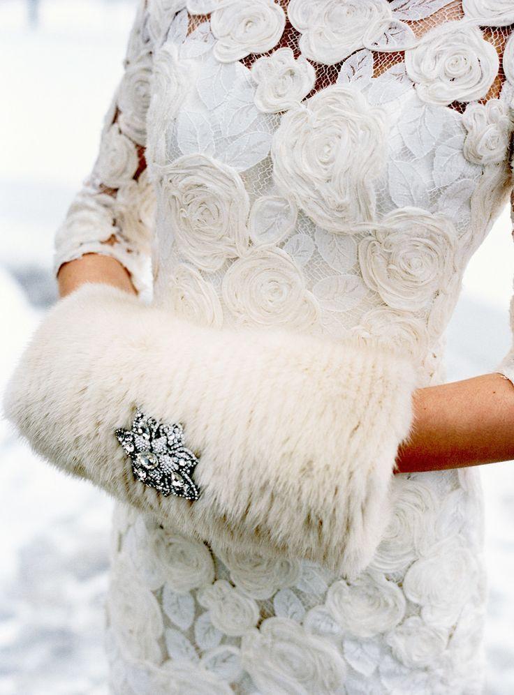 The Millionairess Of Pennsylvania:  White fur muff glamour