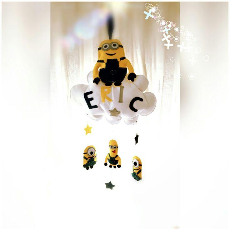 #minions #felt #decoration for #nursery #handmade  decoratiune camere bebelus minioni din fetru handmade  #fetru #handmade #craciun #cadou #moscraciun #jucarie #coronita #mosnicolae #sarbatori #decoratiuni #ornamente #felt #christmas #ornaments #decorations #toys #christmastree #santa #gift