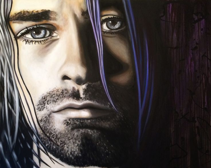 "60"" X 48"" painted on a gallery wrapped canvas. Ready to hang. They eyes say it all..."