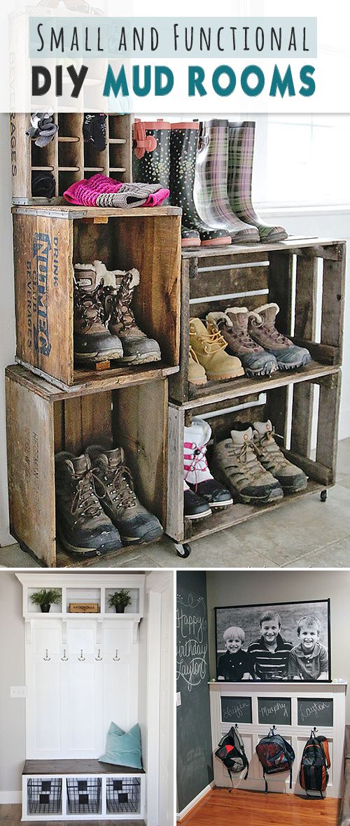 Small And Functional DIY Mud Rooms