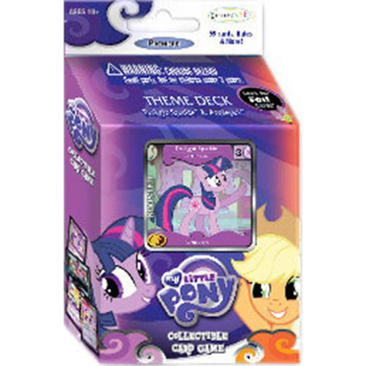 This is the My Little Pony Theme Deck Twilight Sparkle And Applejack The Card Game. This deck provides everything a single player needs to begin playing this fun and strategic 2-player game, which bri