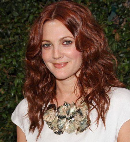 Les cheveux roux de Drew Barrymore
