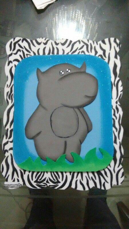 Hipopótamo animal print