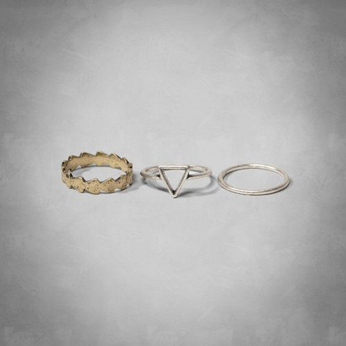 Pretty ring set with authentic antique finish, Imported