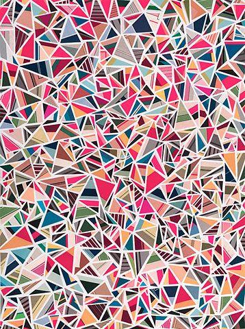.triangulos, filos, collage, agresivo
