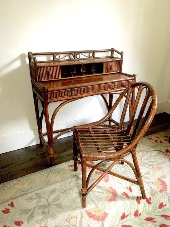 Cool Wicker Desk Rattan Desk Gimbels 1960S In 2019 Wicker Gmtry Best Dining Table And Chair Ideas Images Gmtryco