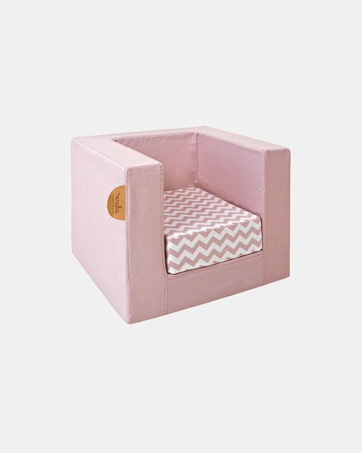 light pink cube chair