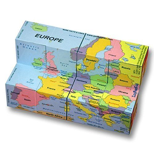 Cube Books - Europe - Map, Flags