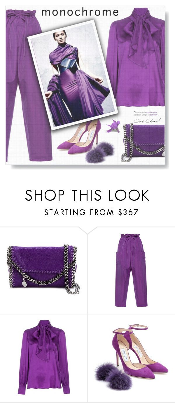 """Purple Rain..."" by desert-belle ❤ liked on Polyvore featuring STELLA McCARTNEY, Maison Rabih Kayrouz, True Royal and Jimmy Choo"